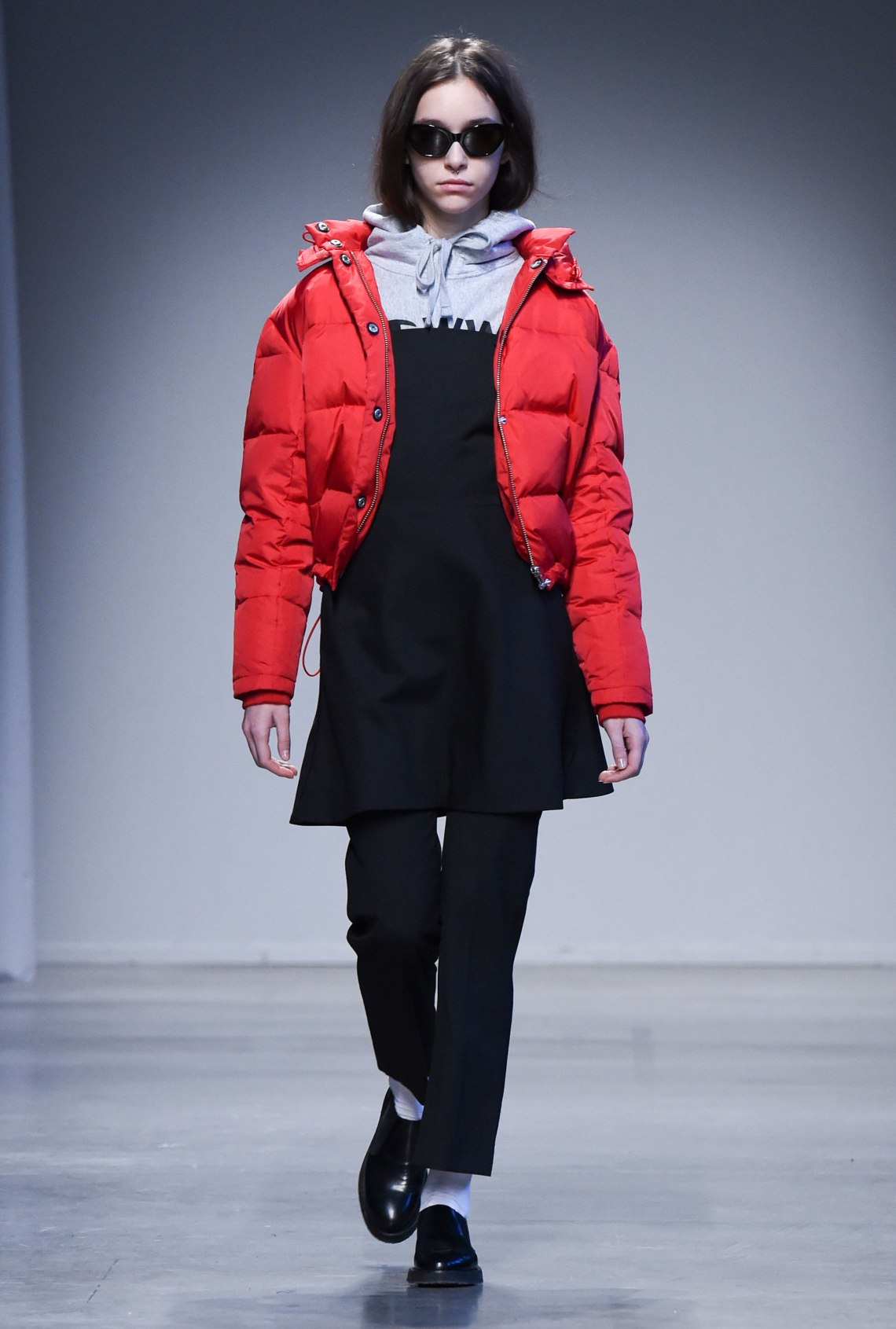 is-wearing-alyssa-puffer-jacket-champion-x-wood-wood-hoodie-anni-dress-liva-trousers-libra-sunglasses-and-jil-shoes