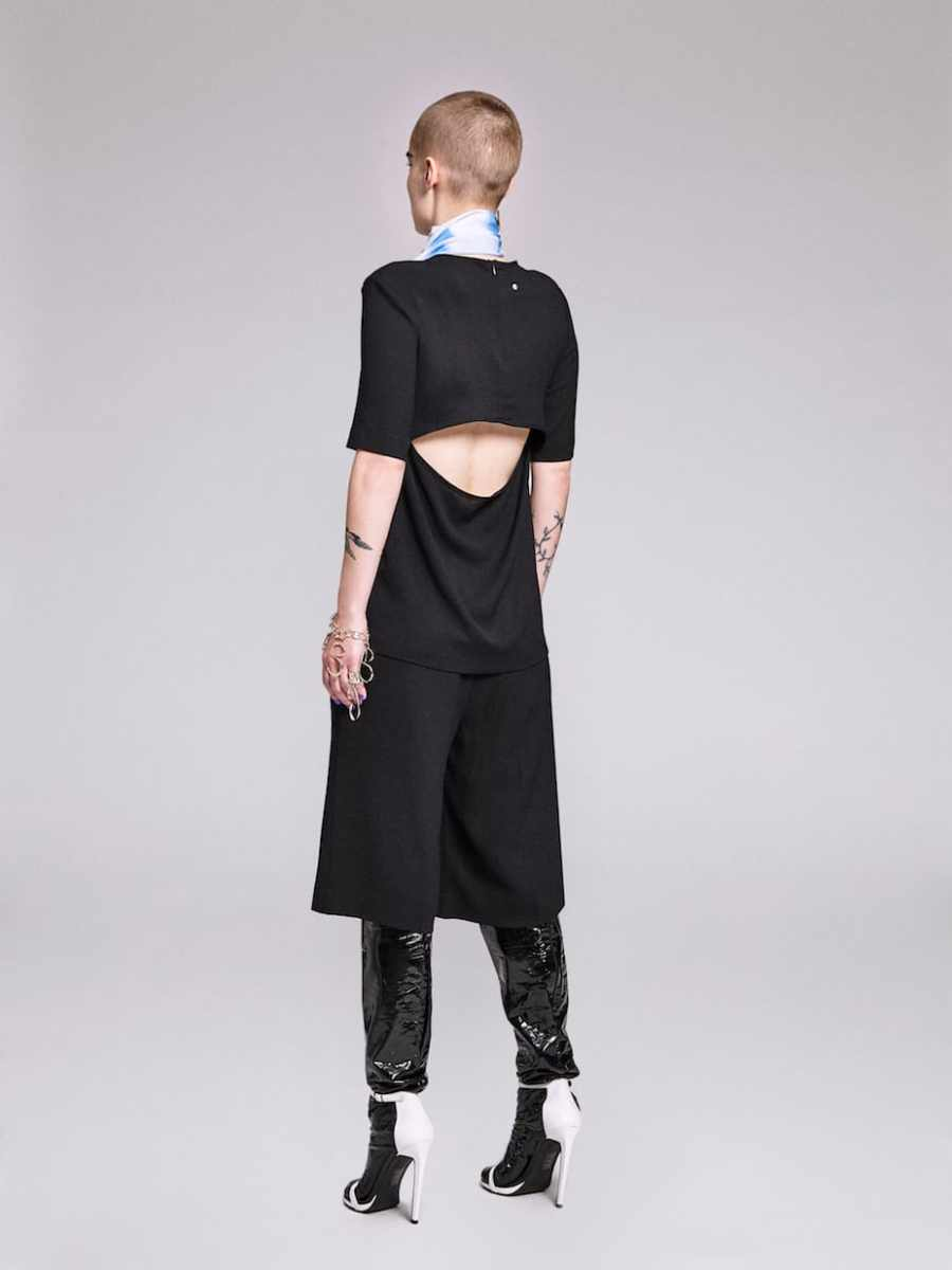 split-woven-t-shirt