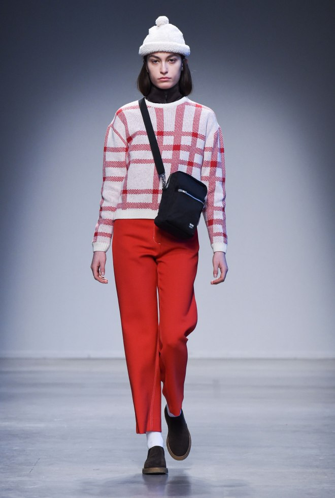 wearing-checkered-caitlin-knit-sweater-cropped-ginny-track-jacket-althea-trousers-cora-teddy-beanie-rena-shoulder-bag-and-jil-shoes